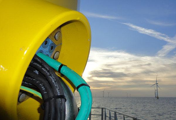 Roxtec Kabeldurchführung im Offshore-Windpark Kentish Flats / Pressebild