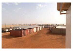 Zur Versorgung der Niederländischen Soldaten im Rahmen der UN Friedensmission in Mali (MINUSMA) wurde im September eine 200 kWp große Solaraufdachanlage in Betrieb genommen / Pressebild