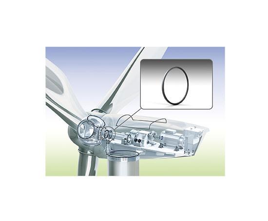 """Um die Lager von Windkraftanlagen zuverlässig abzudichten, hat Freudenberg Sealing Technologies die Materialfamilie """"Ventoguard"""" entwickelt / Pressebild"""