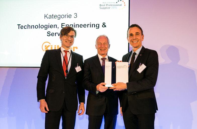 Kübler gewinnt Best professional Supplier Award Jury würdigt nachhaltiges Geschäftsmodell aus Innovation & Flexibilität / Pressebild