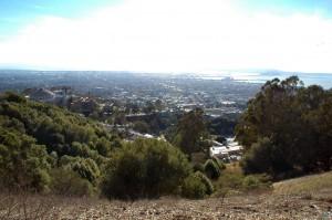 Bildunterschrift: Blick über die Bucht von San Francisco, die in unmittelbarer Nähe zur San Andreas-Verwerfung in Kalifornien liegt. (Foto: P. Martínez-Garzón, GFZ)
