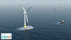 Ideol floating foundation for offshore wind industry / Video