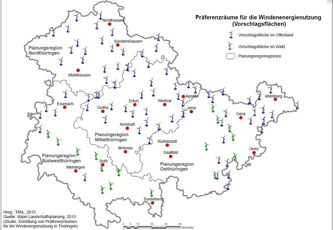 Bild Präferenzraum mit Städten / Pressebild