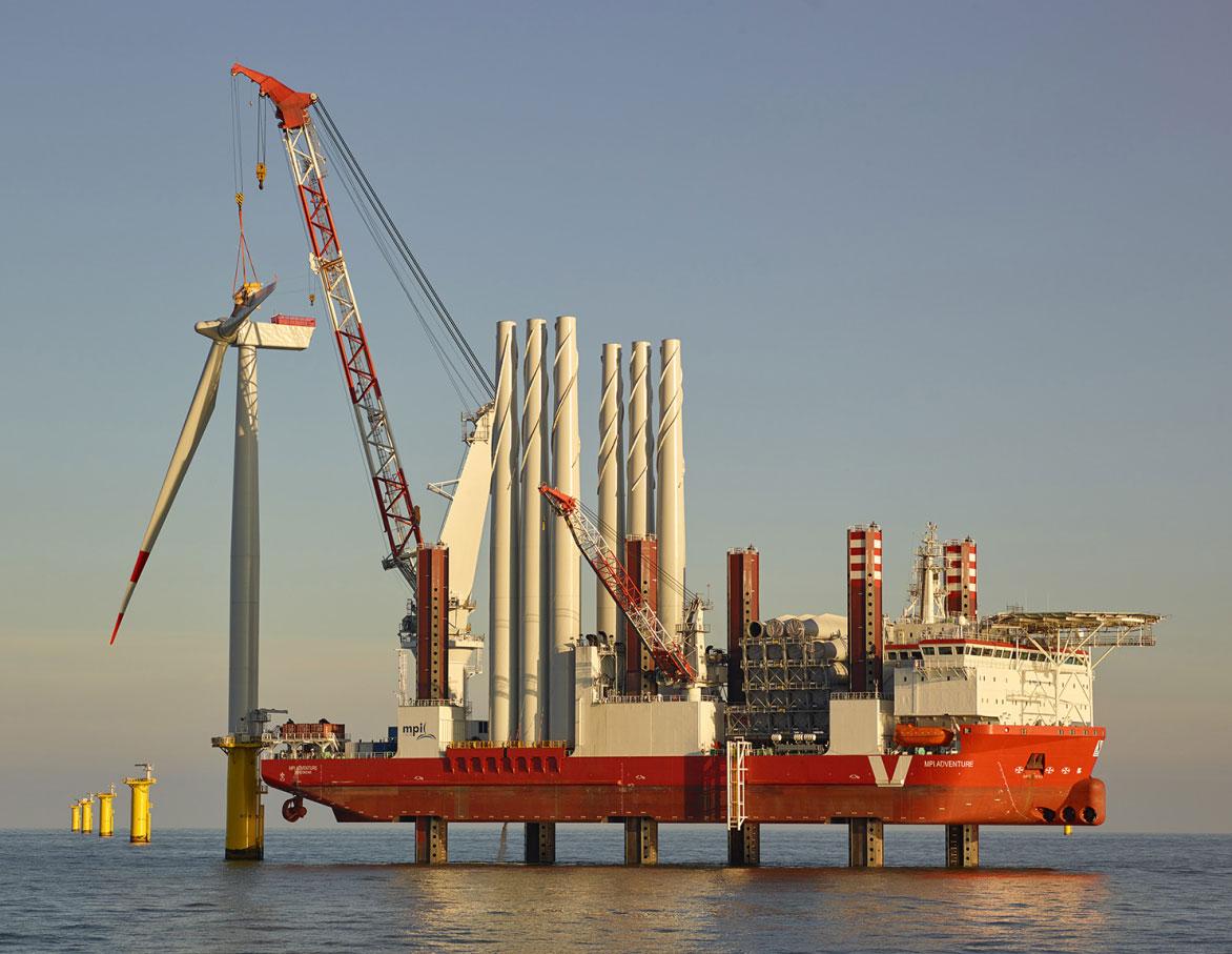 Nordsee-Windpark Amrumbank West offiziell in Betrieb genommen / Pressebild: EON