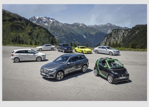 Silvretta E-Auto Rallye 2015: Mercedes-Benz und smart auf e-Mission im Montafon / Pressebild