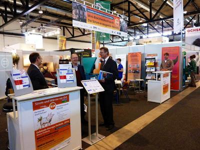 Wie in den beiden vergangenen Jahren wird auch bei der GETEC 2016 das BHKW-Infozentrum den Gemeinschaftsstand der Stadt Freiburg unterstützen (Bild: Solar Consulting GmbH / Messe Freiburg)