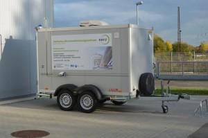 Mobile Anlage zum Testen der Katalysatoren gegen Methanschlupf an Biogasanlagen © DBFZ