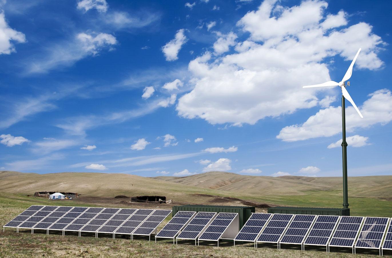 Das hybride Energiesystem CrossPower von Pfisterer ermöglicht erstmals eine zuverlässige dezentrale regenerative Stromversorgung. / Pressebild