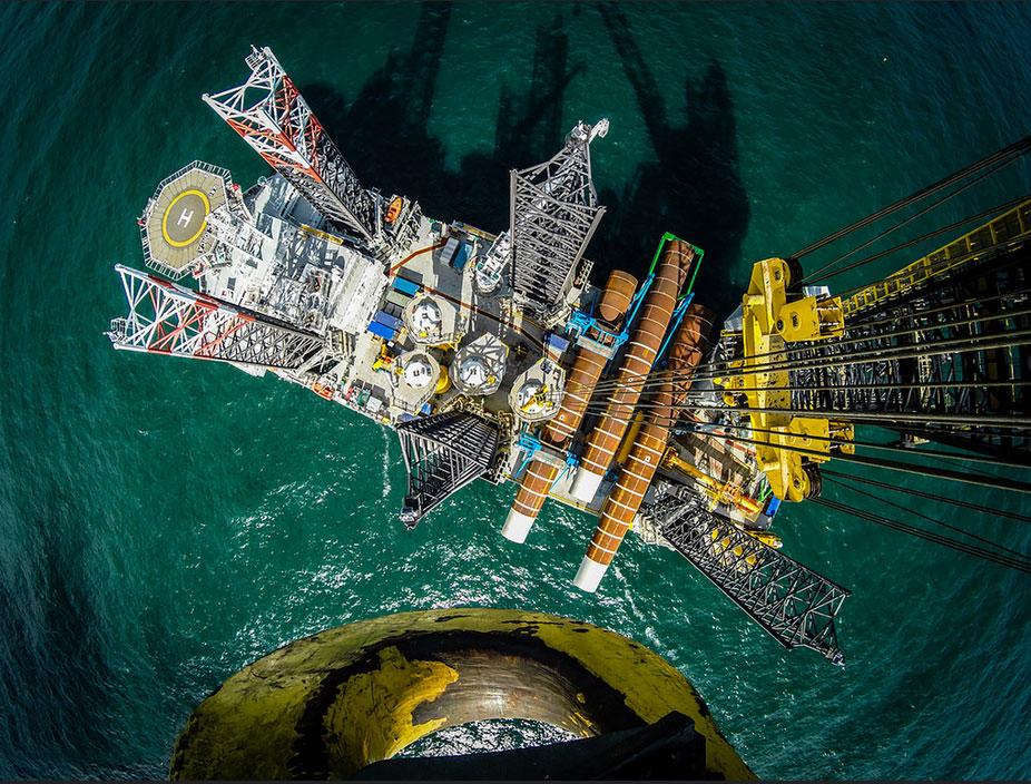 Impressionen vom Offshore Windpark Sandbank / Pressebild: Vattenfall