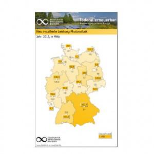 Solarstromausbau in den Bundesländern / Grafik: Agentur für Erneuerbare Energien e.V.