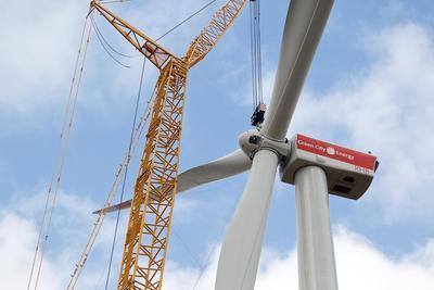 Der Windpark Sindersdorf ist Teil des Kraftwerkspark III von Green City Energy (Foto Mark Mühlhaus)