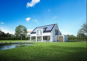 Privathaushalte profitieren von polykristallinen Photovoltaik-Modulen von Sharp. (Bild: Sharp Energy Solutions)