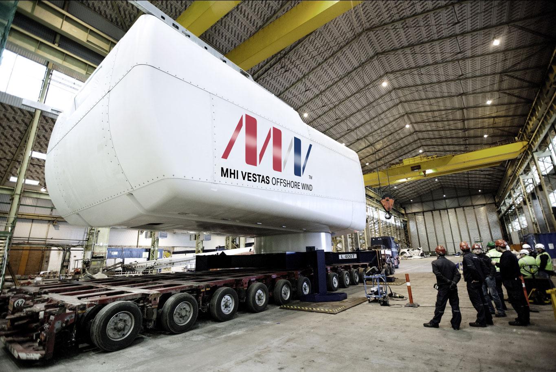 Das Offshore-Windpark-Projekt wird mit8 WM Windturbinen von MHI Vestas bestückt / Pressebild: DONG Energy