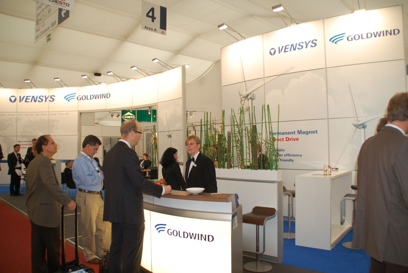 Messestand Goldwind / Foto: HB