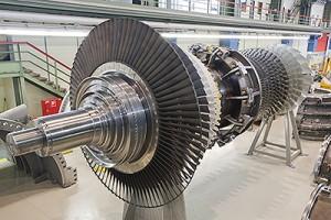 Zwei Gasturbinen des Typs SGT6-8000H werden im Lordstown Energy Center installiert.  Two SGT6-8000H gas turbines will be installed in the Lordstown Energy Center.