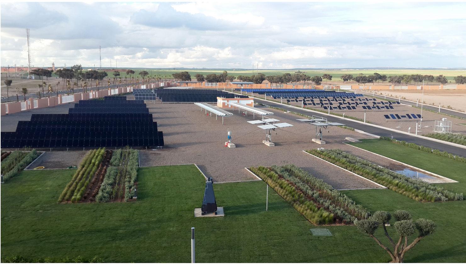 Der 2015 in Betrieb genommene »Green Energy Park« in Ben Guerir ist die größte Photovoltaik-Testplattform Afrikas. / Pressebild