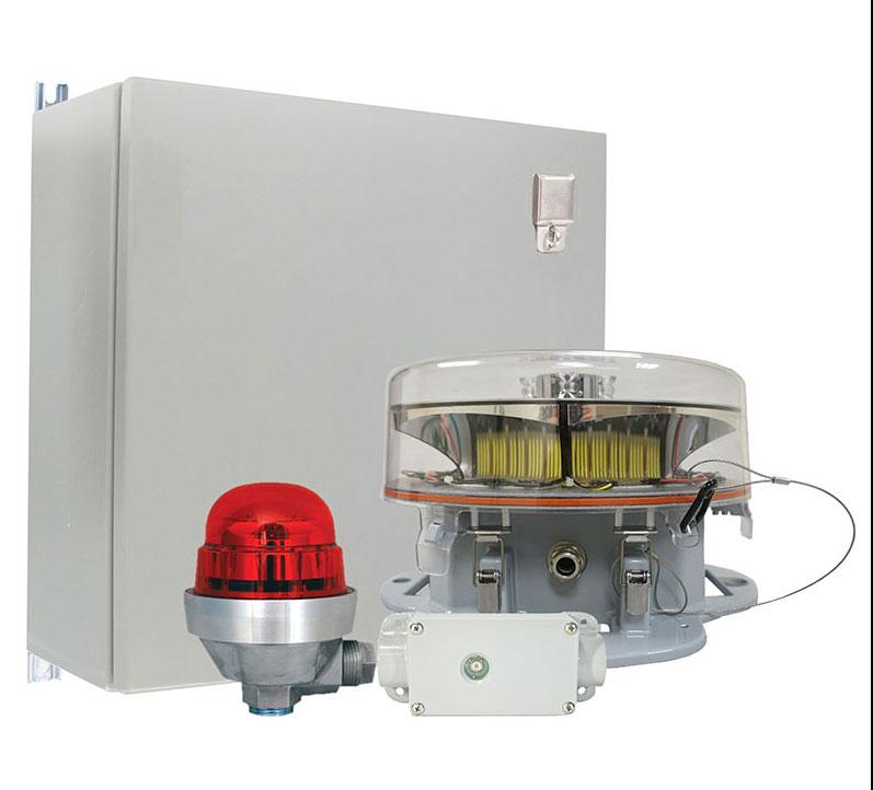 Das neue Befeuerungssystem Vigilant® LED Dual Red/White Strobe with Infrared (IR) / Pressebild