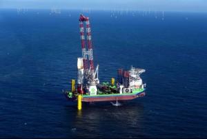 Fundamentinstallation für den Offshore-Windpark Nordsee One abgeschlossen / Pressebild: RWE