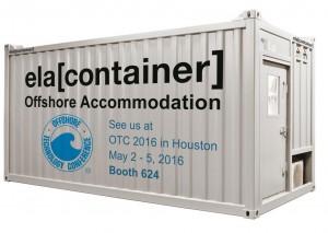 ELA Container Offshore GmbH stellt auf der OTC 2016, die Offshore Technology Conference, vom 2. bis 5. Mai 2016 aus. / Pressebild