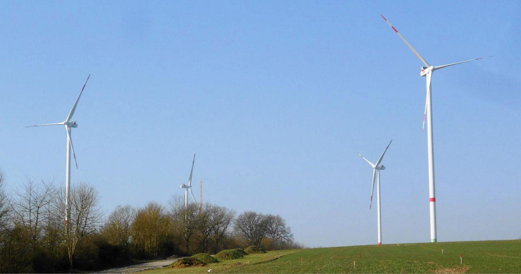 Das Bürgerprojekt mit vier Anlagen vom Typ Vestas V112 3.3 liefert sauberen Windstrom für mehr als 7.000 Haushalte. / Pressebild