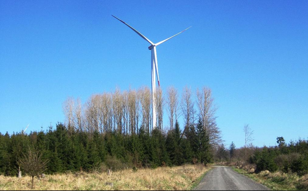 Ökostrom für mehr als 11.000 Haushalte: Die juwi-Gruppe mit Sitz in Wörrstadt bei Mainz hat den Windpark im mittelhessischen Amöneburg-Roßdorf ans Netz gebracht. / Pressebild