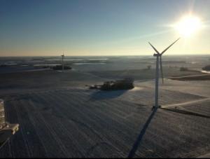 Wind Farm in Minnesota wird mit zehn Suzlon S88 Windkraftanlagen erstellt / Pressebild