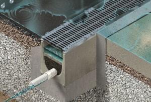 Niederschlagswasserreinigung mit Drainfix Clean / © 2016 Hauraton GmbH & Co. KG