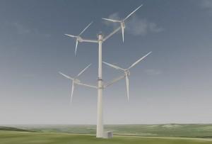 So soll sie aussehen: die Multi-Rotoren-Anlage von Vestas. (Grafik: Vestas)