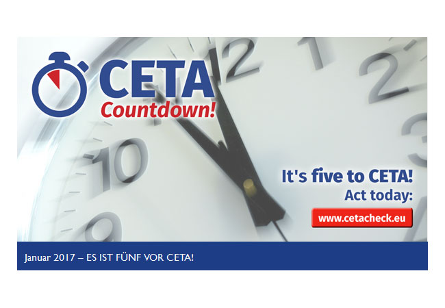 Es ist also fünf vor zwölf für CETA – und wir müssen alle Kräfte bündeln
