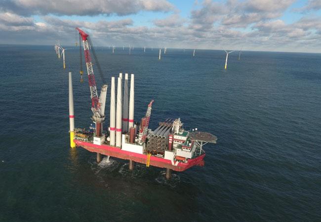 Offshore Windpark Sandbank / Pressebild