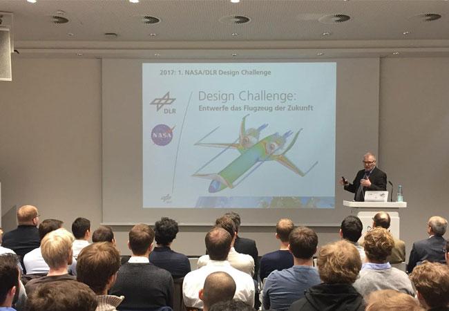 NASA und DLR veranstalten einen gemeinsamen Studierenden-Wettbewerb im Bereich Flugzeugentwurf. / Pressebild