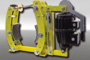 Neue elektrohydraulische Trommelbremse DT-ST von RINGSPANN: Eine Trumpfkarte, wenn Bremsleistung zwischen Motoren und Getrieben abgerufen werden muss – zum Beispiel in Schüttgut-Förderanlagen. (Bild: Ringspann)