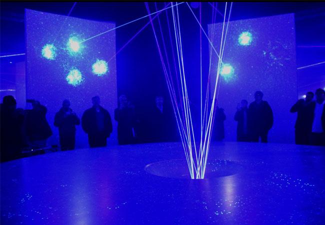 Bildunterschrift: Highlight des Deutschen Pavillons: die Energy-Show. Foto: Deutscher Pavillon