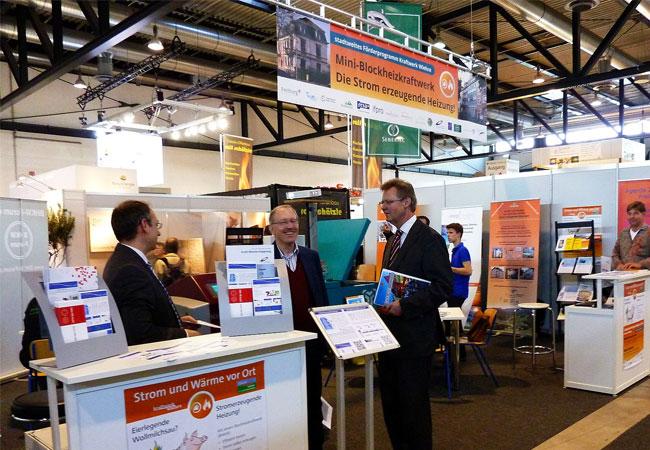 Wie in den letzten drei Jahren wird auch bei der GETEC 2017 das BHKW-Infozentrum den Gemeinschaftsstand der Stadt Freiburg unterstützen (Bild: Solar Consulting GmbH / Messe Freiburg)