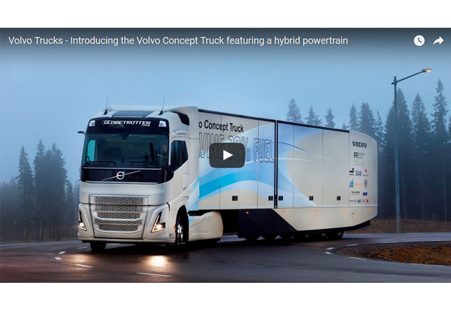 Volvo Trucks - Introducing the Volvo Concept Truck featuring a hybrid powertrain / Video-Bild