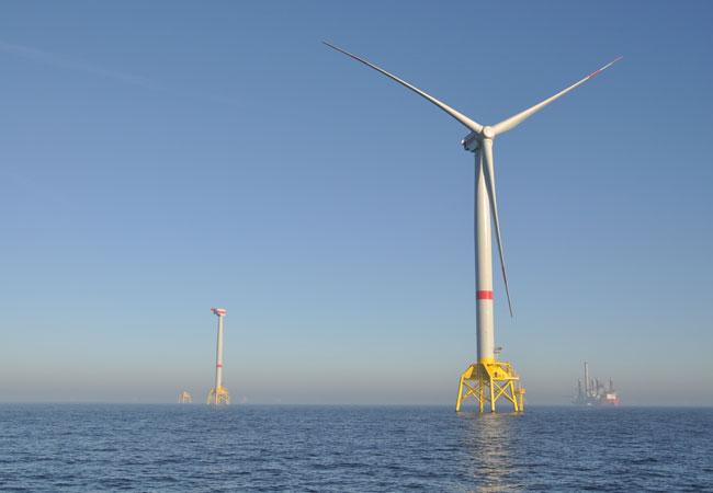 Erste Anlage für Windpark Wikinger installiert / Pressebild