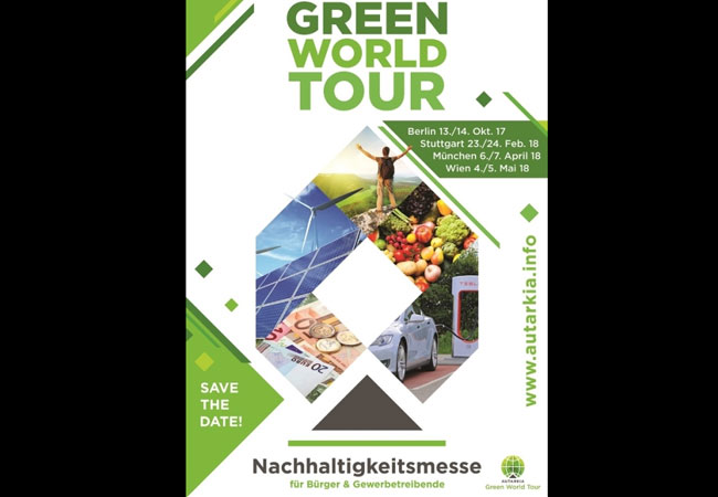 Pressebild: Green World Tour Messeposter