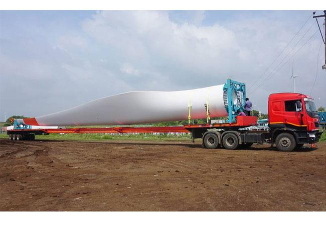 Der TIIGER Extender ist perfekt für den Transport von Rotorblättern bis 53,5 Metern geeignet – eine wichtiger Markt angesichts des intensiven Aufbaus der indischen Energieinfrastruktur.