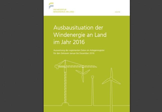 Ausbausituation der Windenergie an Land im Jahr 2016
