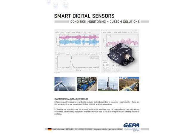 GEPA Produktflyer: Sensoren und Systeme für die Schwingungsnalyse