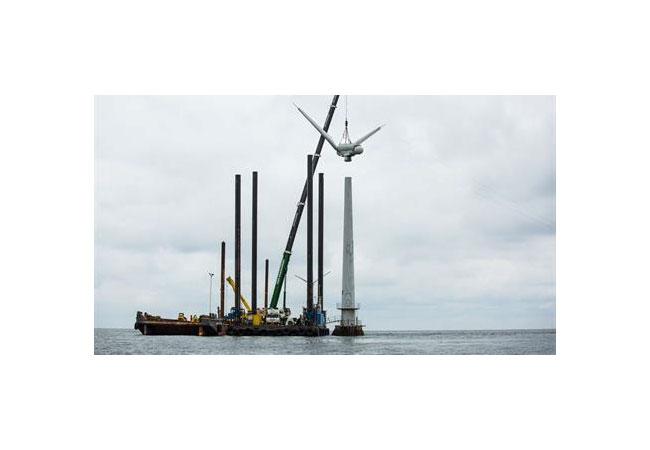 Erster Offshore-Windpark der Welt nach über 25 Jahren zurückgebaut / Pressebild