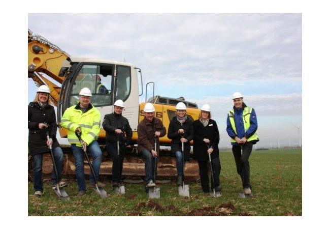 Spatenstich für die Erweiterung des Windparks Artern/Kachstedt / Pressebild