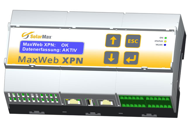 3 Datenlogger MaxWeb XPN: Selbstlernendes Energiemanagement und Datenlogger. / Pressebild