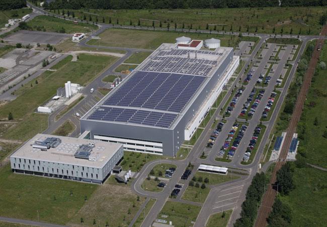 Bildquelle: Astronergy Das Astronergy-Werk in Frankfurt (Oder)