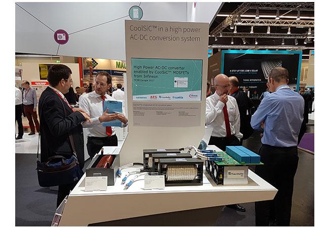 © Foto Fraunhofer IWES Auf der international führenden Leistungselektronikmesse PCIM Europe in Nürnberg wird die Neuentwicklung ab heute auf dem Stand 412 in Halle 9 der Infineon Technologies AG vorgestellt.
