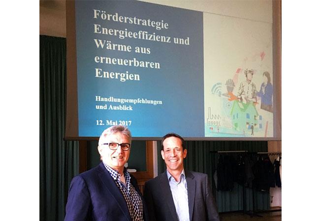 Pressebild: GIH-Bundesvorsitzender Jürgen Leppig mit Thorsten Herdan, Leiter der Abteilung II Energiepolitik des Bundesministerium für Wirtschaft und Energie