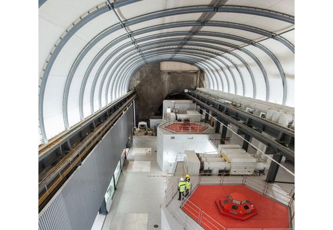 Pressebild: Neue Zentrale mit zwei Pumpturbinen mit je 120 MW. Foto: David Picard