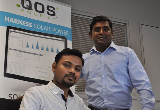 Photo - QOS Energy project Engineers Navdej SINGH and Shankar KUMAR