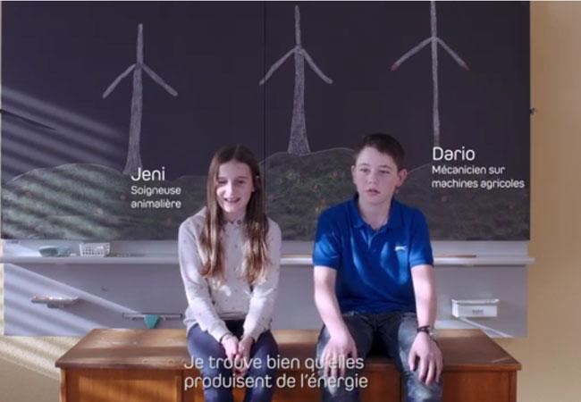 Video: Suisse Eole: Statements von Schülerinnen und Schülern zur Windenergie im Entlebuch, Kanton Luzern, Schweiz