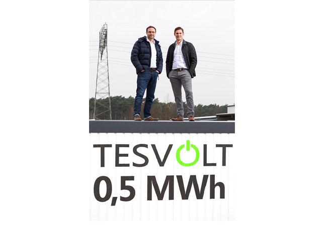 (Bildquelle: Tesvolt) Der neue TESVOLT-Litiumspeicher TS HV 70